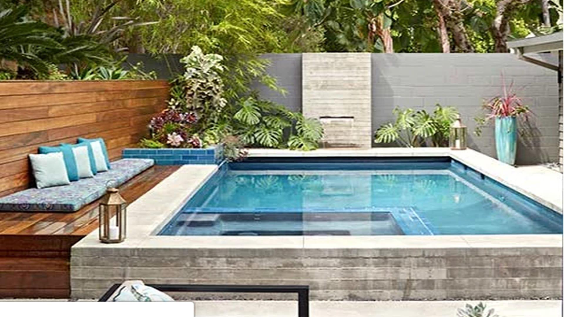 Low Maintenace Pool Landscaping